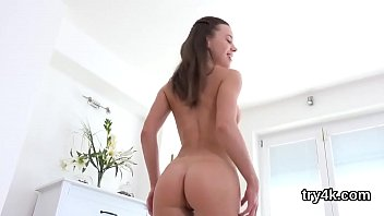 Sweet chick sucks cock in pov and gets narrow vagina rode