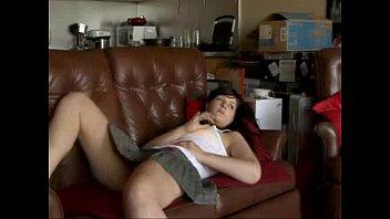 Brunette Couch Webcam Solo Fun Masturbating