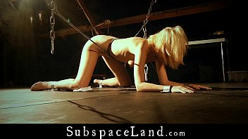 collared and tethered blond marionettes takes.