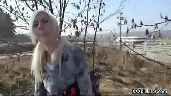 Teen European Grl Fucks For Cash In Public 15