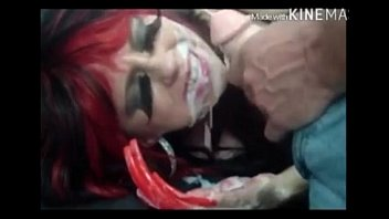 red-haired vampire facial cumshot