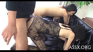 Asian group sex with hot anal
