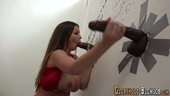 stunner at gloryhole cummed