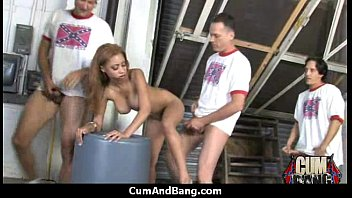 black breezy blows a group of supah-naughty fellows six