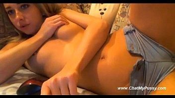Cute Webcam Teen Inserts A Finger Into Her Tight Ass
