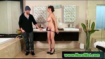 Sexy busty asian gives hot nuru massage 22