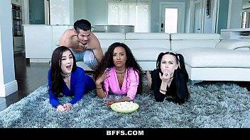 BFFS - Hot Teens Have a Movie Night Orgy