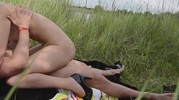 Wonderfull high heels teen body taking sex on grass next to lake - more videos at NakedTeenCam.sexy