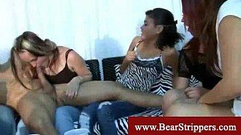 cfnm teddy stripper gets moist and.