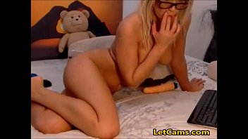 jaw-dropping silver-blonde individual cam