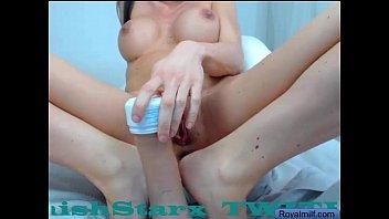 Clover fuck with dildo in ass boobs webcam