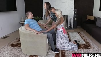 Hot mom Nina and dauhter Lexi 3some with neighbor