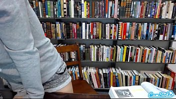 teenie latina in public library showcasing off her.