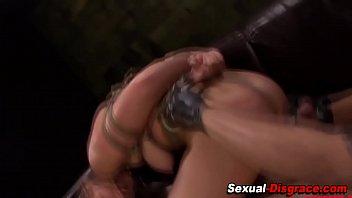 bum pounded victim licks spunk