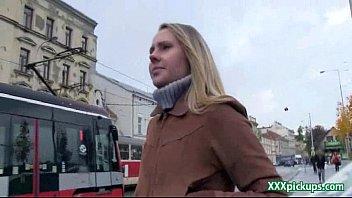 Public Pickups Sex Video with Amateur Czech Teen 35