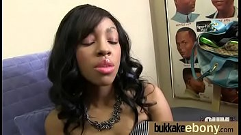 Ebony Babe Sucks Group Of White Guys 1