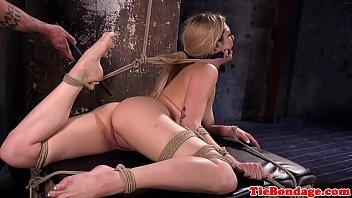 Bondage loving beauty gets punished