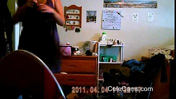 Caught myself while spying Elaine on hidden cam