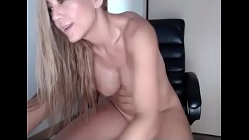 Horny slut fucks dildo and squirt