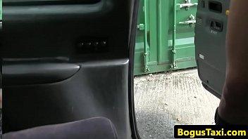 Pussy fucking brit sucks cabbie until he cums