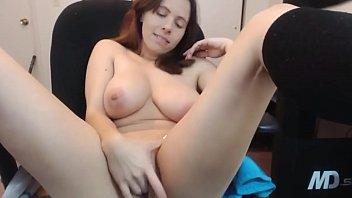 Brunette masturbating on webcam - See more Teencambr.com