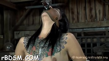 ball-gagged gal is being penalized for being such.