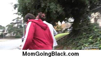Big black cock on busty mom