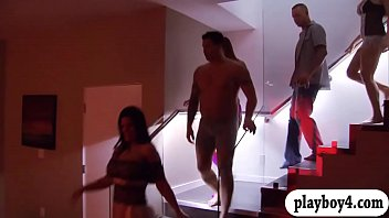 Horny couples nasty orgy with swingers