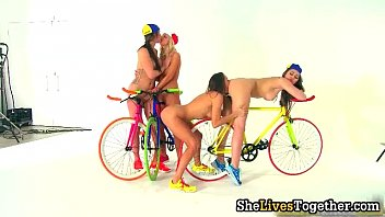 awesome girl-girl group orgy with supah.