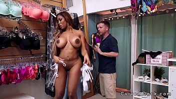 Guy closed shop and fucked big ass ebony