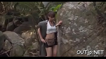 stunning outdoors quickie