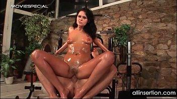nude oily mega-bitch rails cum-pump and gets backside dildoed