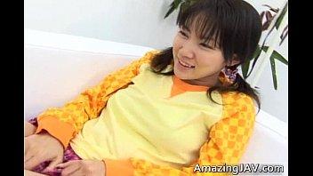 Horny young asian having fun sucking