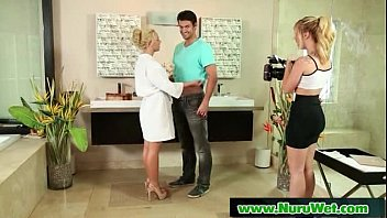 Blonde Babe gives Nuru Massage 02