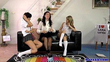 brit cougar spanks horny dyke students