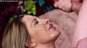 Milf face cum covered