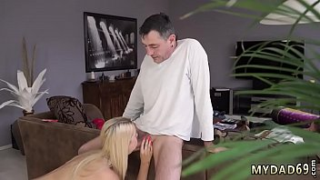 Young girl with old and dick Sleepy guy missed how his father screws