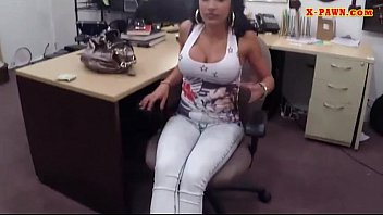 Big boobs amateur brunette latina rammed at the pawnshop