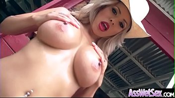 (Luna Star) Oiled Up Big Butt Girl Enjoy Deep Anal Hardcore Sex clip-19