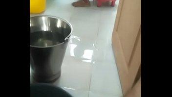 indian babhi cloth washing in rest.