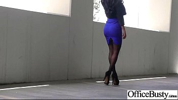 amia miley office woman with hefty bumpers pulverize.