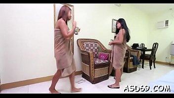 oriental gal attacks her guy039_s wang