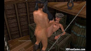 A hot 3D pirate babe gets fucked by a big cock
