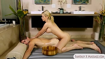 booby light-haired masseuse bootie-crevice pummeled