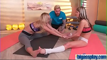 girly friends entice gym instructorcristal caitlin amp_ gina.