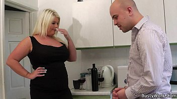 Blonde bbw gets licked and doggy-fucked by boss