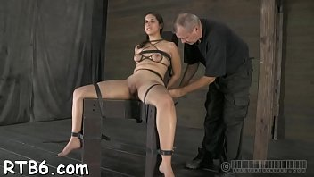 Naughty slut tears up during her amoral pussy torture session