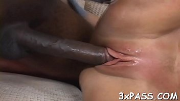ebon dude pounds milky damsel