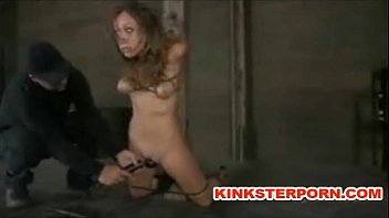 BDSM Slave Locked in Punishment Device and Tormented