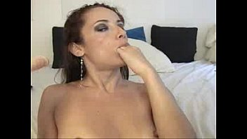 NaughtyTease4U sexy camgirl deepthroating a big dildo